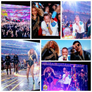 Beyonce and Coldplay